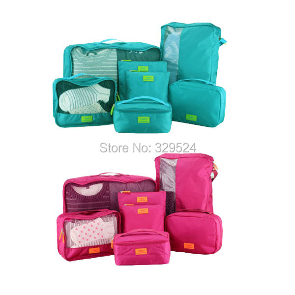 7 Pieces Set Travel Accessories Men And Women S Solid