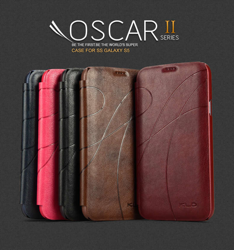 Oscar II Series Stylish Pattern Protective Ultra Thin Leather Case With Wallet For Samsung Galaxy S5 I9600 SV Book Cases