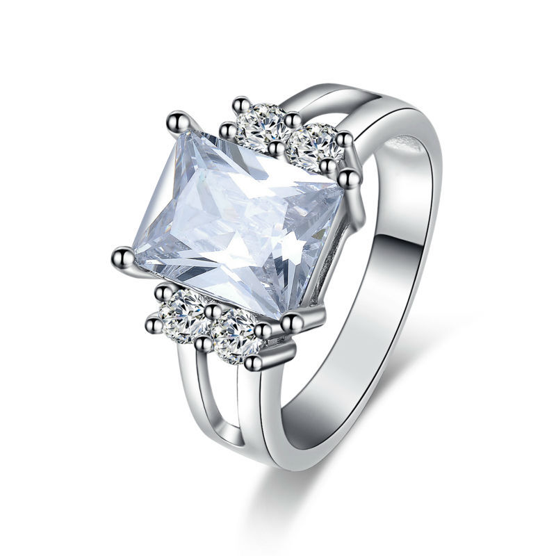 top quality silver jewelry rings for cz