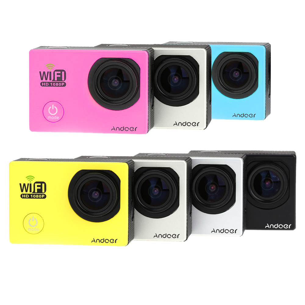 Mini 2.0inch 1080P FHD Waterproof DV Wifi Sport Action Camera Camcorder Car DVR Sport Camera for Outdoor Bike Helmet