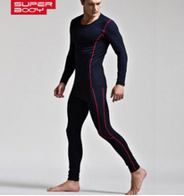 2016 manufacturers wholesale bamboo fiber thermal underwear thick Slim bottoming Qiuyiqiuku suit without distortion(China (Mainland))
