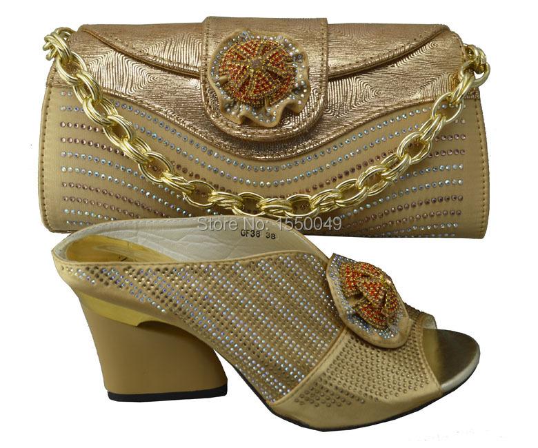 Фотография Gold Luxury Design Nigerian High Heels Women