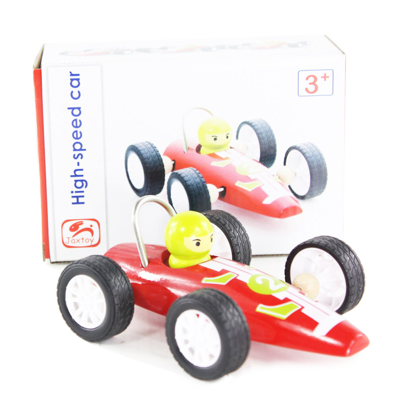 pull back car wooden educational toys children free shipping 2015 hot sale new arrival promotion rushed Diecasts & Toy Vehicles(China (Mainland))