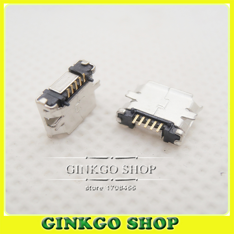 Free shipping Micro usb connector SMD female connector B type charge port Charge Socket for Smart mobile phone Tablet PC<br><br>Aliexpress