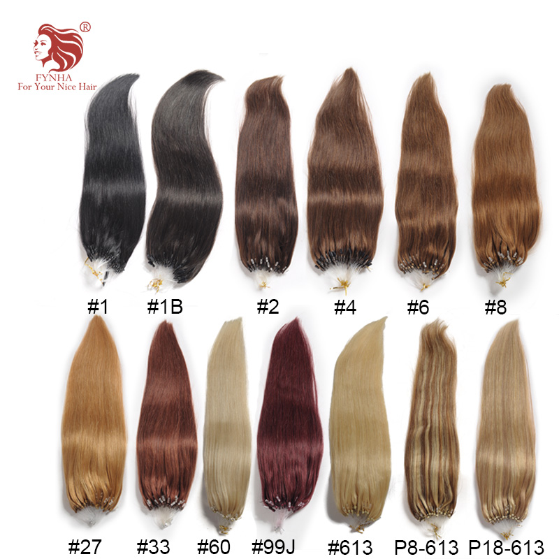 Free shipping 100g/pac silk straight micro ring hair extensions grade 6A 100% remy human hair 18''-24'' 100s can be customized