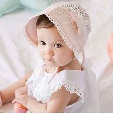 2016 Sweet Lovely Cute Princess Children Kids Girls Baby Hat Beanie Pink New Lace Floral caps Free Shipping ZT1(China (Mainland))