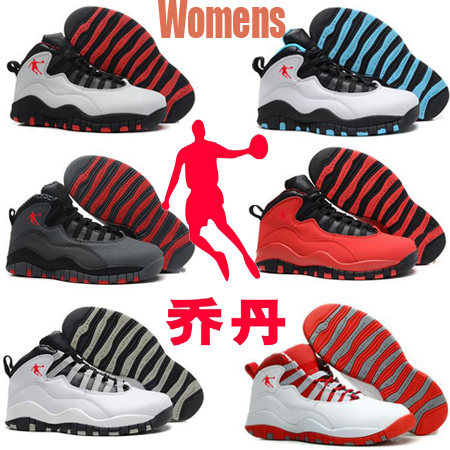 2015 Free Shipping US size 5.5 - 8.5 New best quality authentic china jordan 10 retro low women basketball shoes cheap(China (Mainland))