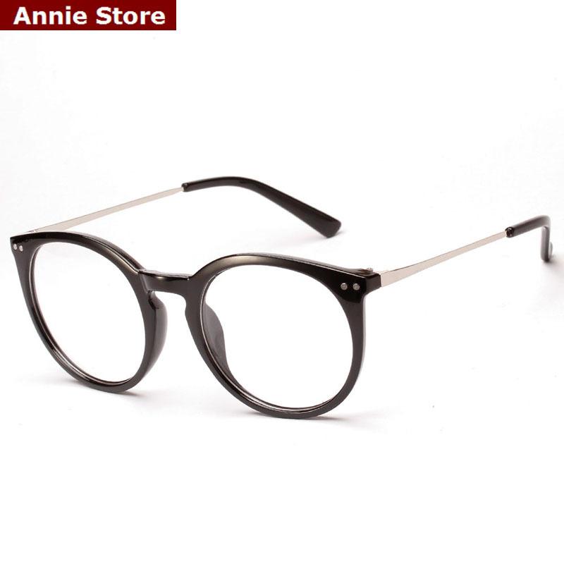 Gold Metal Eyeglass Frames : New KOREAN fashion oval eyeglasses frames men rivets gold ...