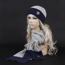 2014 Fashion high quality cashmere wool Winter Scarf Hat Knitted Scarf And Hat Set Thicken Knited Hat Scarf Best Quality for men(China (Mainland))