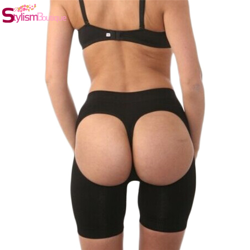 Women Butt Lifter Open Bottom Tummy Control Panties Stovepipe Pants Buttock Enhancer Thermal Belly Slimming Leg Trimming