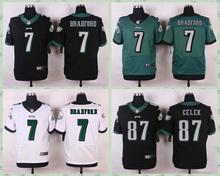 2016free shipping,Stitiched,Philadelphia Eagles,Carson Wentz,Darren Sproles,Sam Bradford,customizable(China (Mainland))