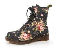 COOTELILI Plus Größe Mode Herbst Schöne Blume Schuhe Frau Lace-Up Motorrad Kuh Muscle Cowboy Flache Stiefeletten Für frauen(China)