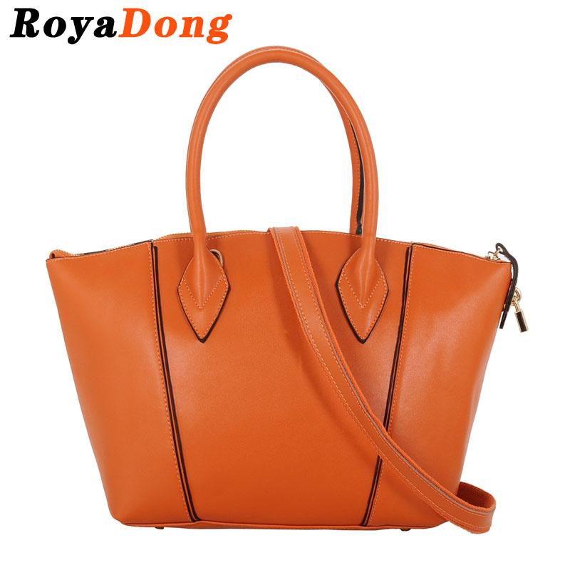 RoyaDong Brand Women Leather Handbags Fashion Genuine Leather Bags Shoulder Bag Ladies Ladys Bag Smile Trapeze Handbag Bolsos<br><br>Aliexpress