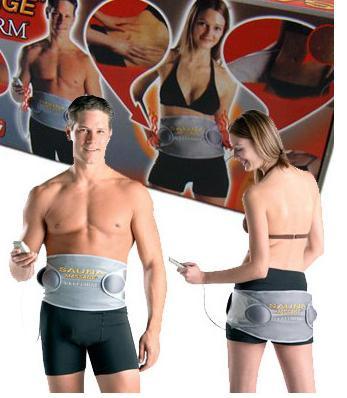 sauna Heating Vibration Rejection Fat Belt Slimming Belt Waist Massager Belt  with two motor #101J