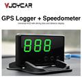 VJOYCAR C61 Car GPS Data Logger Hud Head Up Display GPS Logger Speedometer Over Speed Alarm