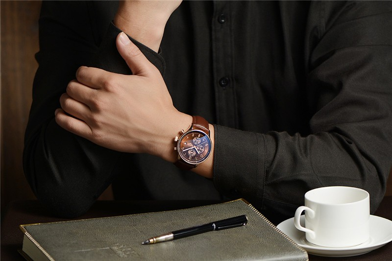 2016 Топ Люксовый Бренд GUANQIN Кварцевые Часы Мужчины Наручные Часы Мужские Часы мужские Наручные Часы Мужской Кварцевые Часы Горячая Relogio Masculino