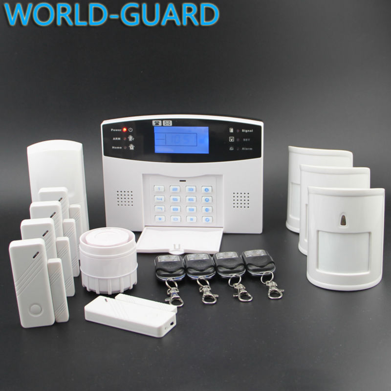 2015 New Wireless GSM Alarm System Home Security System With Remote Control Voice Prompt+3pcs pet immune motion pir sensor(China (Mainland))