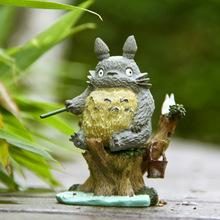 Japanese Cartoon Ha yao Animation Resin Figure My Neighbor Totoro Figure Toys Fairy Garden Ornamnet Best Gift