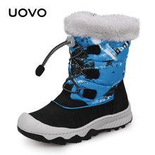 Kinder Schnee Stiefel Wasser Abweisend Winter Stiefel 2019 UOVO Neue Ankunft Kinder Warme Stiefel Jungen und Mädchen Mit Plüsch Futter #29-38(China)