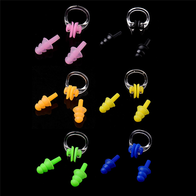 High Quality Soft Swim waterproof Silicone nose clip earplug set Surf Swimming Pool Accessories Waterproof adult diving Soft(China (Mainland))