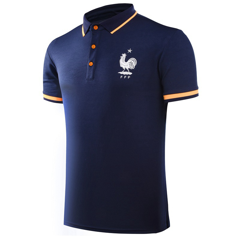 2016 National Team Football Soccer Club POLO Shirt Trainning Exercise Men's Solid Homme Short Sleeve Sport Leisure Polo(China (Mainland))