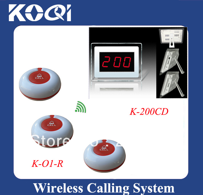Superior quality LED display wireless call waiter sever paging service system with 21 call bells pretty and colorful for Bank(China (Mainland))