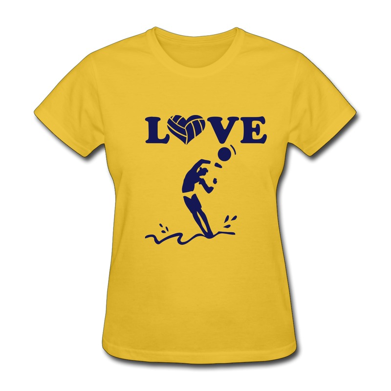 Printed regular woman tee shirt volleyball love heart for Drop ship t shirt printing