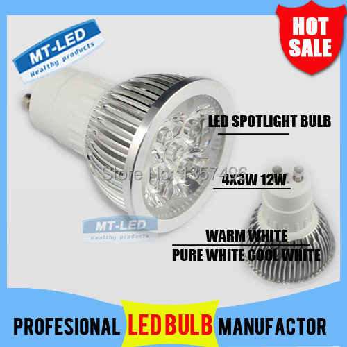 10pcs CREE Led Lamp Dimmable GU10 9W 12W 15W 85-265V Led spot Light Spotlight led bulb downlight lighting(China (Mainland))