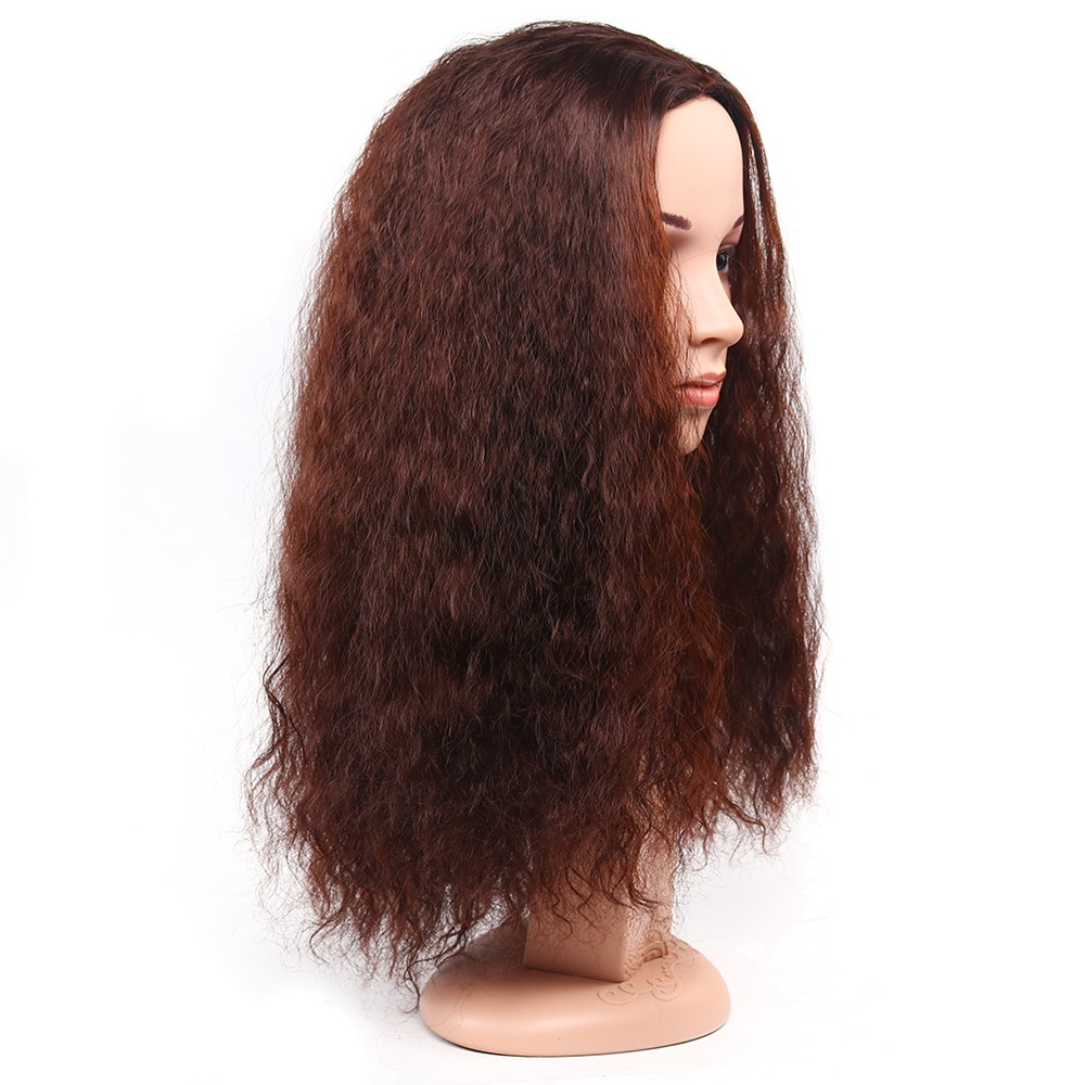 Newest half natural wave curly wigs perruque synthetic women hair Wigs black red afro curly wig cheap wigs for women wholesale
