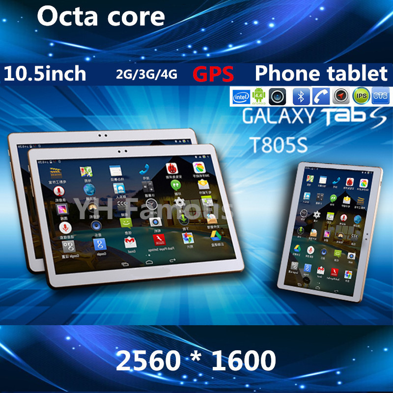 "10.5 "" Android 4.4 tablet 2560 * 1600 MTK6592 Octa Core 3G 4G tablets 4GB / 32GB Dual SIM 2.0MP+ 8.0MP GPS Bluetooth Tablet PC(China (Mainland))"