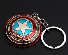 Marvel Avengers Capitão América Escudo do Metal Chaveiro Brinquedos Hulk Batman homem Aranha homem De Ferro Máscara Keychain Chaveiro Chave Dom Brinquedos(China)