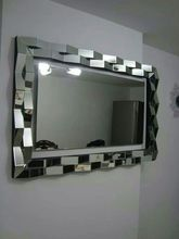 3D modern grey mirror frame wall mirror MR-2D0110(China (Mainland))