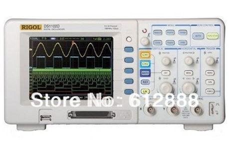 Rigol DS1102D 100MHZ with 16-channel Dual Digital Storage Oscilloscope DSO Logic Analyzer(China (Mainland))