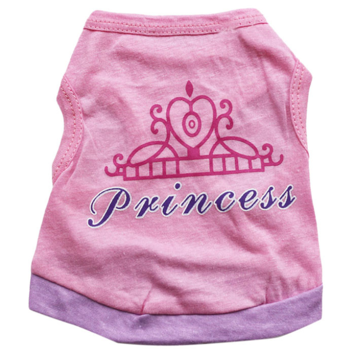 Brand new Pink Crown Original Design Dog Pet Cat Puppy Spring or Summer Vest Clothes free shipping 1 pcs(China (Mainland))