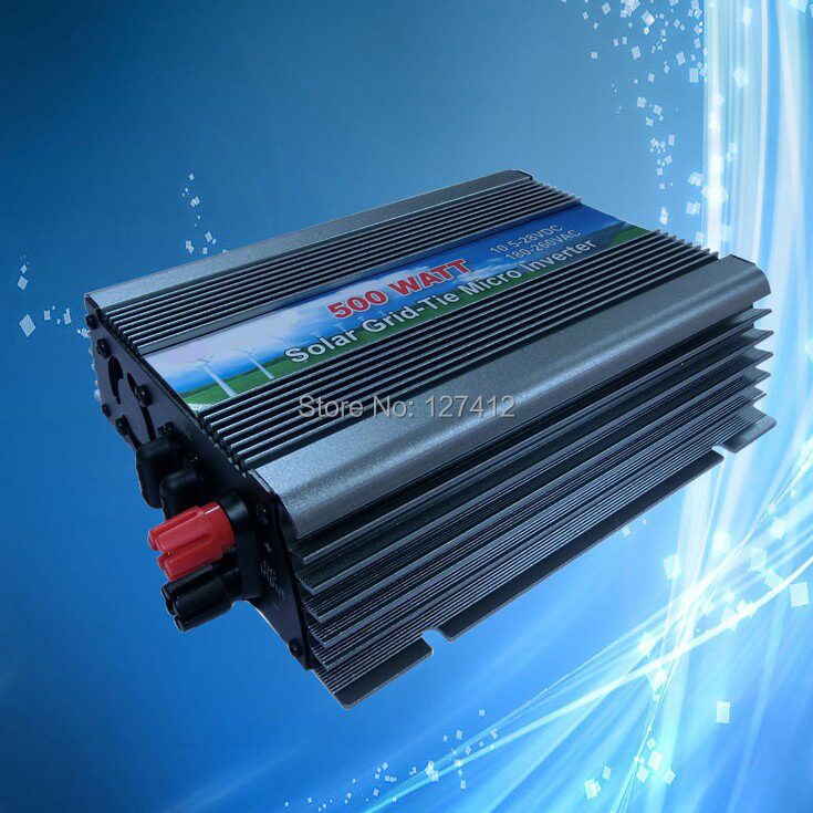 Grid Tie 500W Solar Power Inverter with MPPT Function, 10.5V-28VDC Input to 180VAC-260VAC Output, CE/HORS/ISO9001 Certificate(China (Mainland))