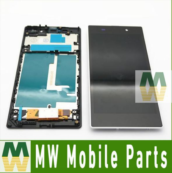 For Sony Ericsson For Xperia Z1 L39 L39H LCD Display +Touch Digitizer Screen +Frame 1PC /Lot Free Shipping(China (Mainland))