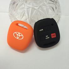 Toyota Silicone car key cover case Tarago RAV4 Corolla Camry Celica Avalon car key shell remote