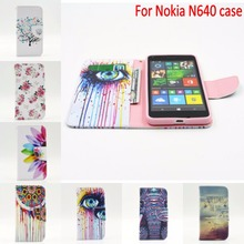 Coque cover For Nokia Microsoft Lumia 640 Case Painting Wallet pu Leather Flip Phone housing with Card Holder holster N640 hoesj(China (Mainland))