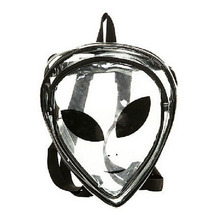 New Ladies Transparent Backpack Fashion Clear Cartoon Alien School Bags PVC Special Package Interest Hip-Hop Leisure Travel Bag(China (Mainland))
