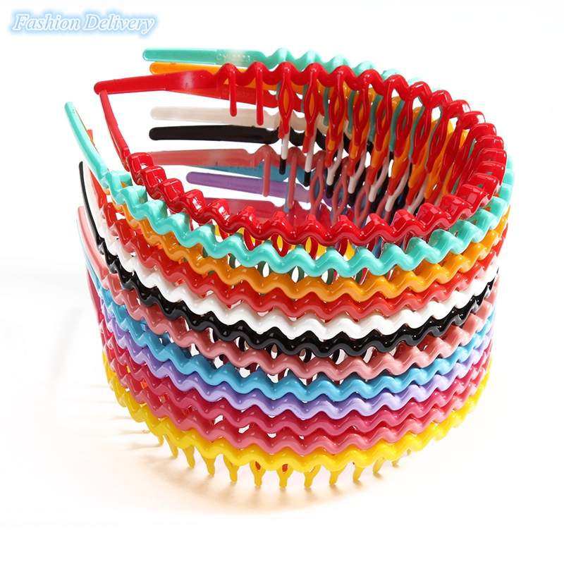 12Pcs/Lot Korea Style Hair Comb Candy Color Wavy Hair Hoop Spring Spiral Hoop Head Band Hair Accessories Hair BandsFor Women(China (Mainland))