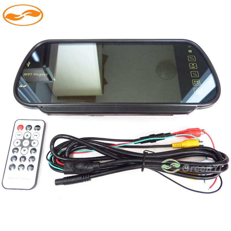 7 Inch Color TFT LCD MP5 Car Rear View Mirror Monitor Auto Vehicle Parking Rearview Monitor SD USB FM Radio for Reverse Camera(China (Mainland))