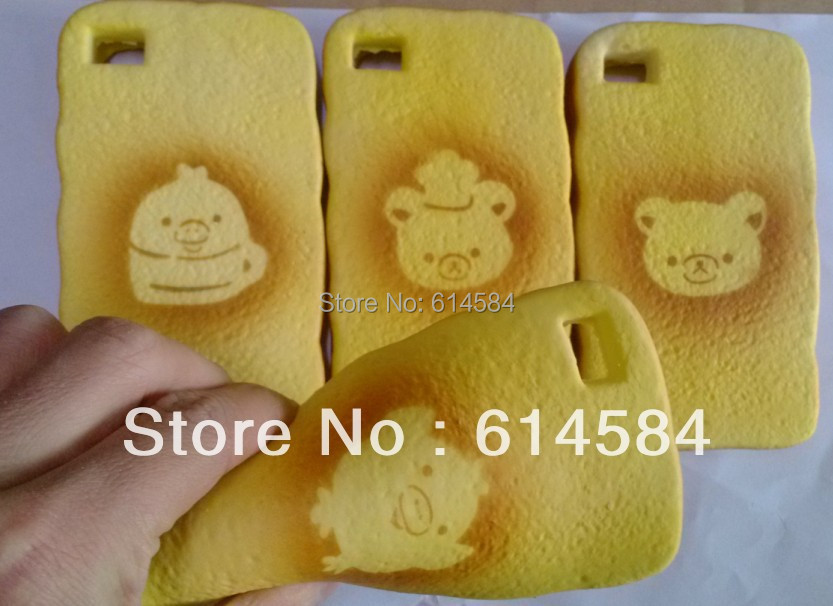 Squishy Bread Iphone 6 Case : Free shipping cartoon bear&chick toast squishy phone cover,Food Squishy Bread Phone Cases for ...
