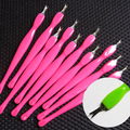 Professional Nail Art Salon  Cuticle Removing Quartz Powder Manicure Tool Polishing Pen Chic Design 5GR9