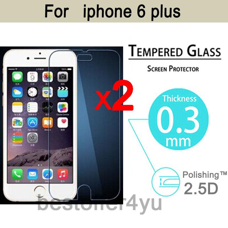 2pcs lot Explosion proof Anti Shatter Premium Tempered Glass font b Screen b font font b