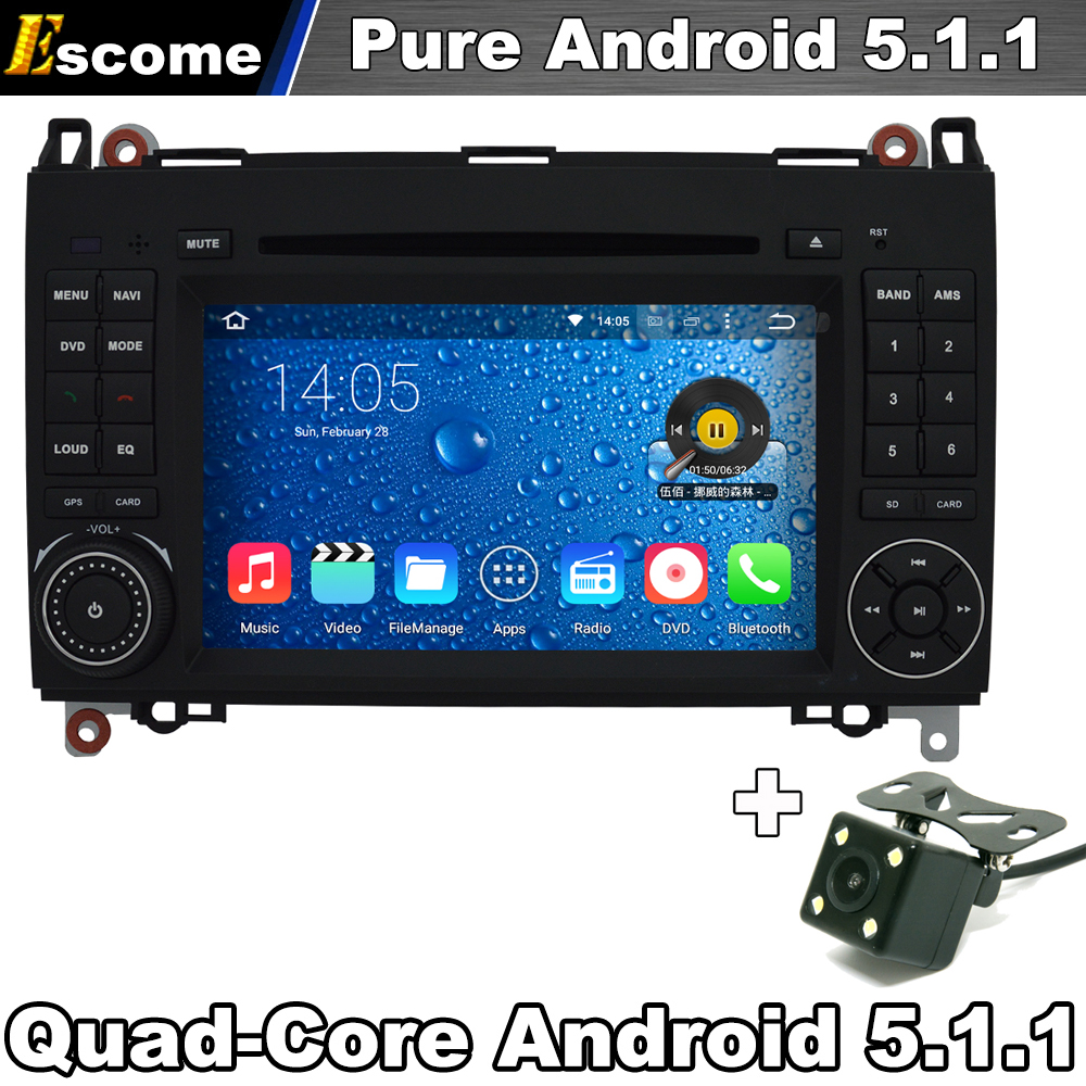 Car DVD GPS For Mercedes Benz B200 B150 B170 A180 A160 Vito W639 Viano Pure Android 5.1 GPS WiFi 3G OBD DVR(China (Mainland))