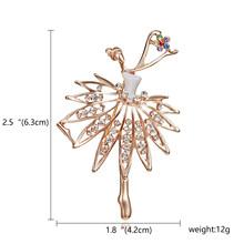 Di danza delle ragazze Lago Dei Cigni Vendita Diretta Della Fabbrica di Balletto Dancing Girl Shinning di Cristallo di Vetro Spille per la Donna in disegni assortiti(China)