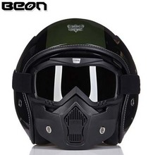 2016 new retro genuine Netherlands BEON motorcycle helmet personalized security  half helmet including goggles free shipping(China (Mainland))