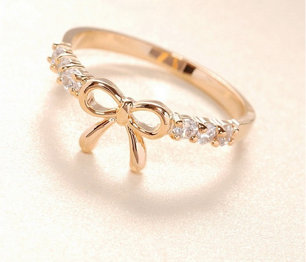 R035 New! Fashion New! Cute Bow ring! Rings Jewelry wholesale