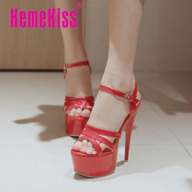 16cm women high heel sandals new arrival fashion platform brand summer wedding sexy footwear hot sale shoes size 33-40 P23259<br><br>Aliexpress