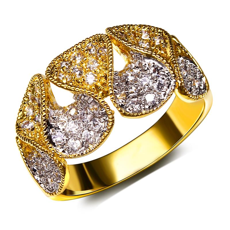 On sale Lead Free Shipping Unique design CZ Fashion Ring for Women See Through Design 18K Gold & Platinum Plated Brass Ring(China (Mainland))